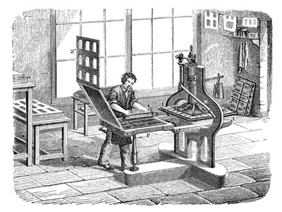 Gutenberg Printing Press changes history.