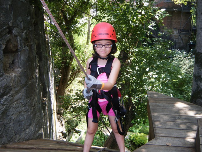 Aurora was a little light but the instructor helped her get started.