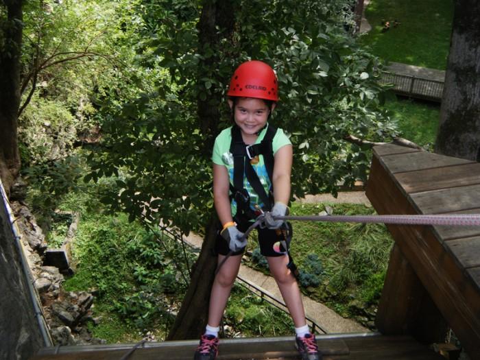 Nina led us off like a pro. Happy to step off the edge.