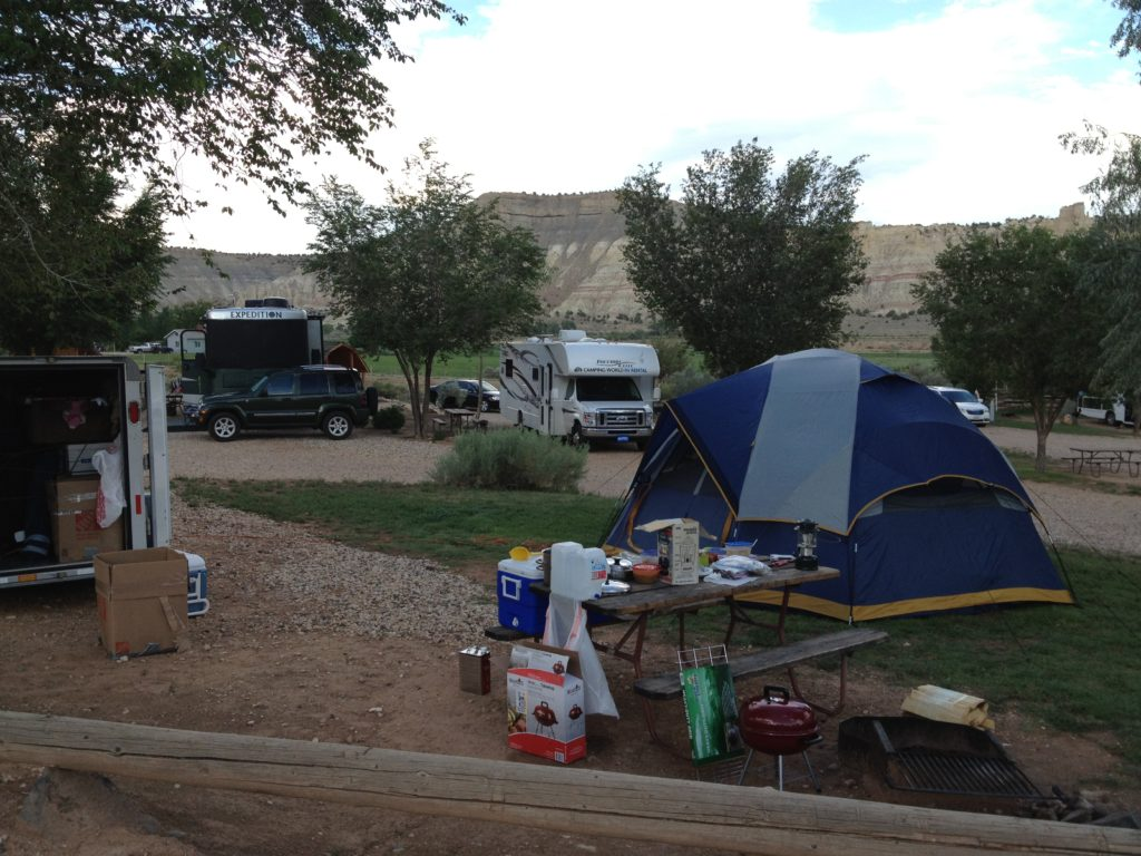 Our campsite at a KOA
