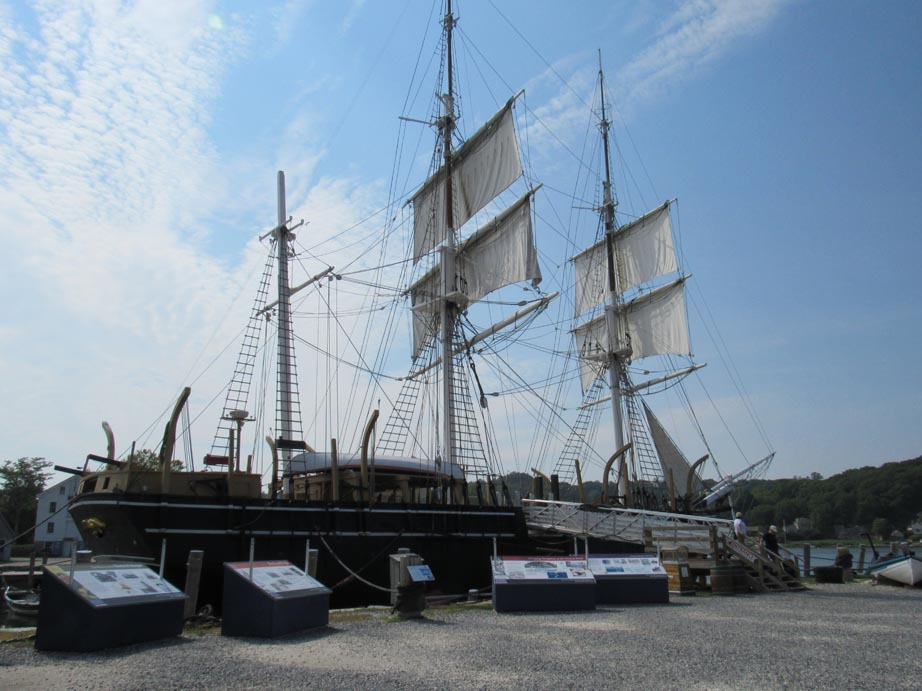 The last whaling ship left from a large fleet of whaling ships. It was beautiful but was probably not when we was a working ship. Whaling was a tough and dirty job.