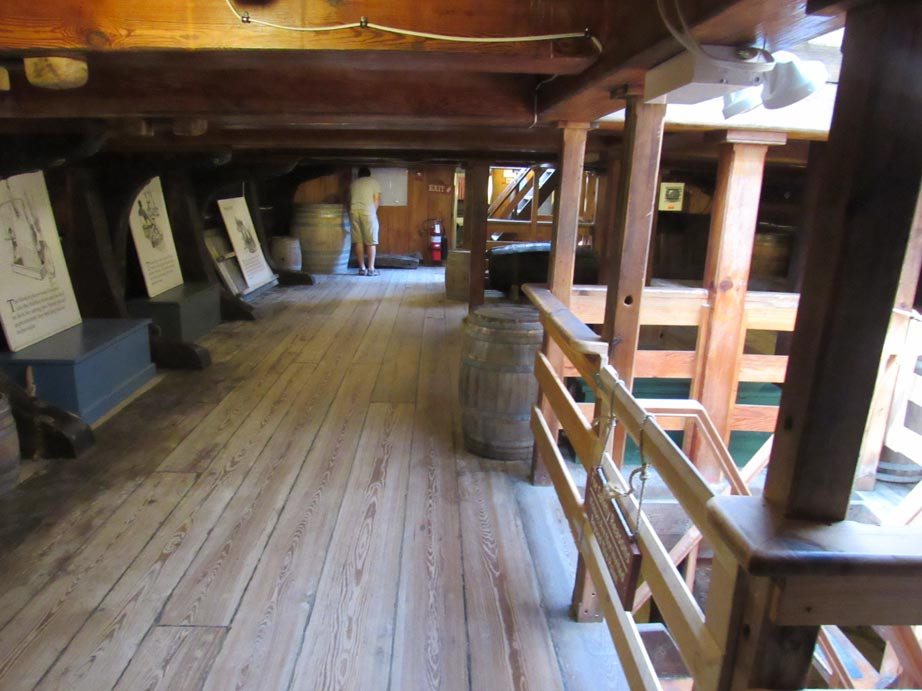 The second floor of the Captain Morgan
