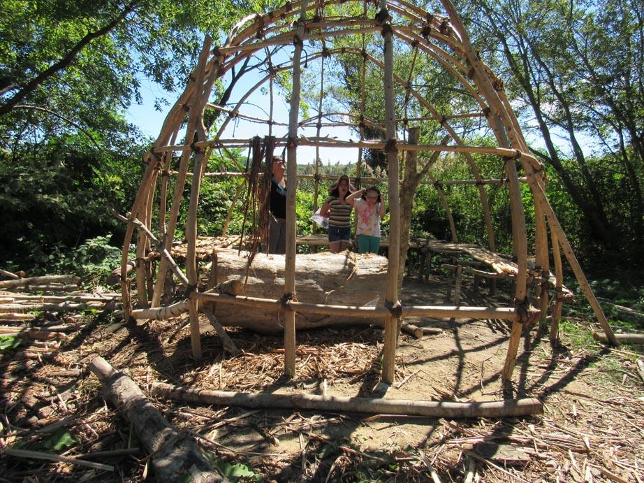 An Indian summer house under construction.