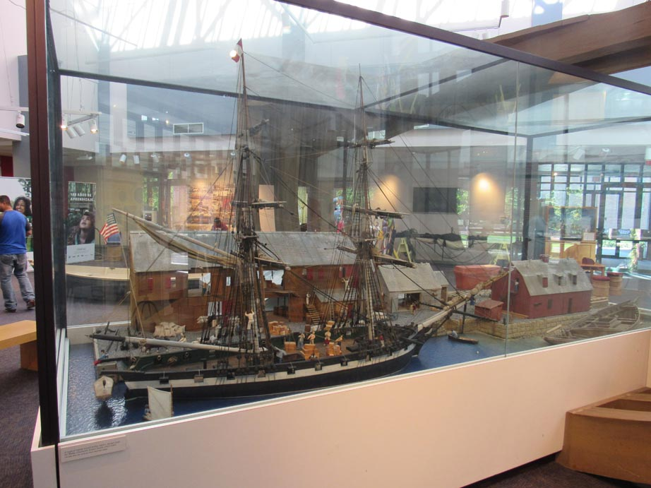 Model of the seaport in the 1600's