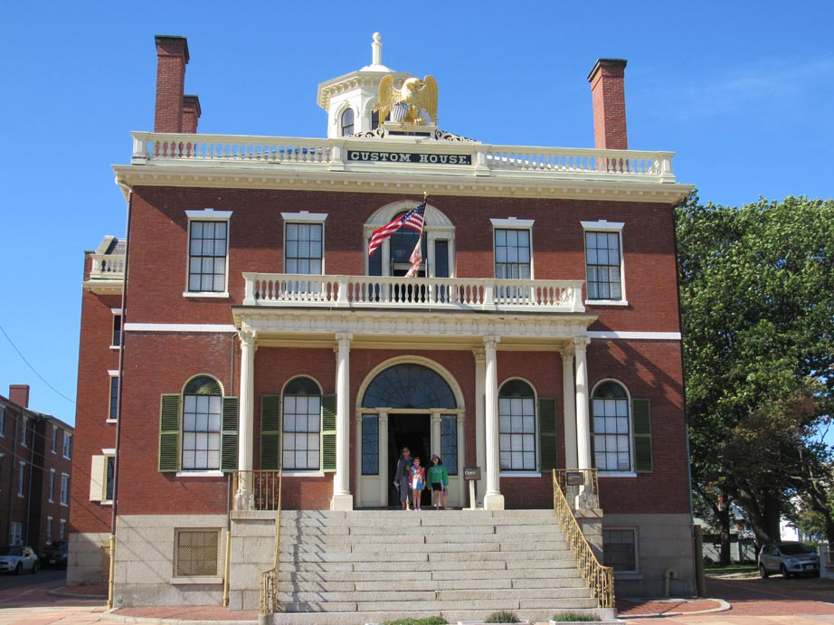 This custom house was established in 1649. Originally collecting taxes for England then for the colonies.