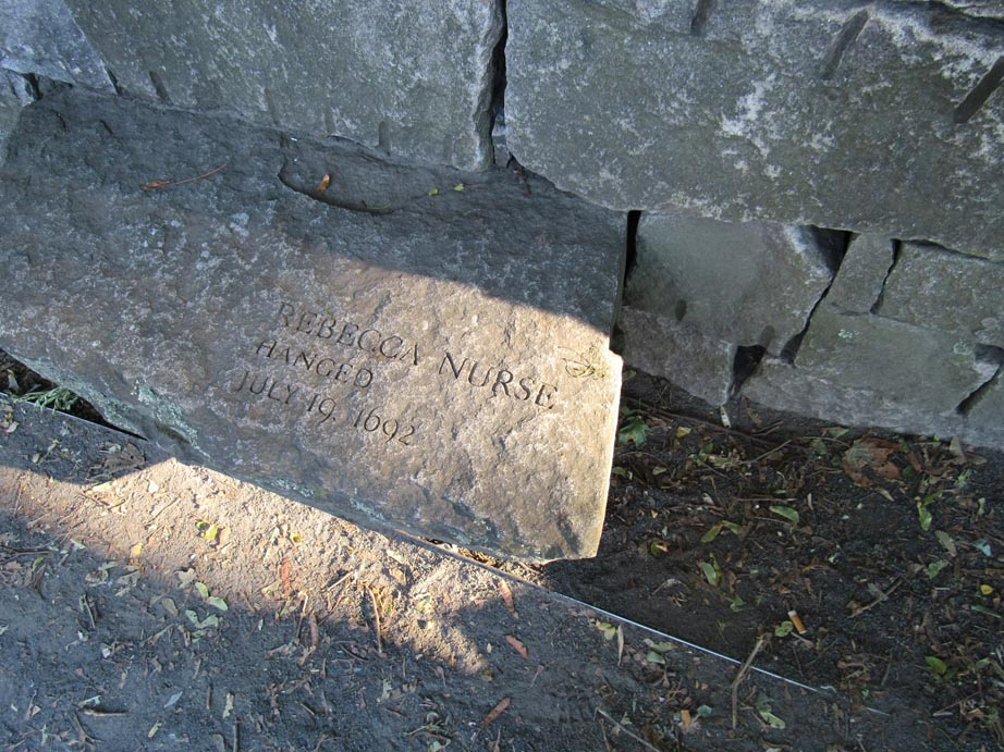 This grave stone marked one of the people that were killed during the witch trials