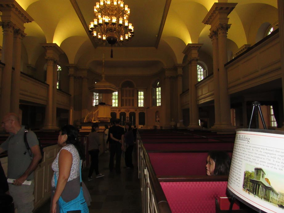 Kings Chapel interior.