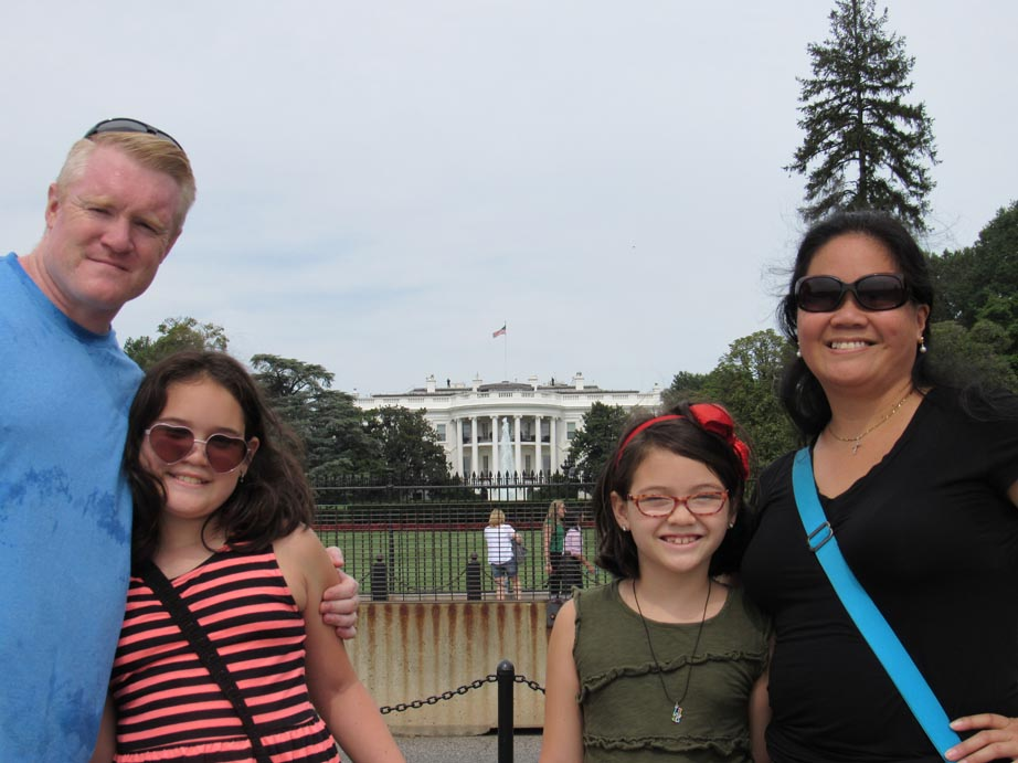We made it to the White House, another punch list item for our trip.