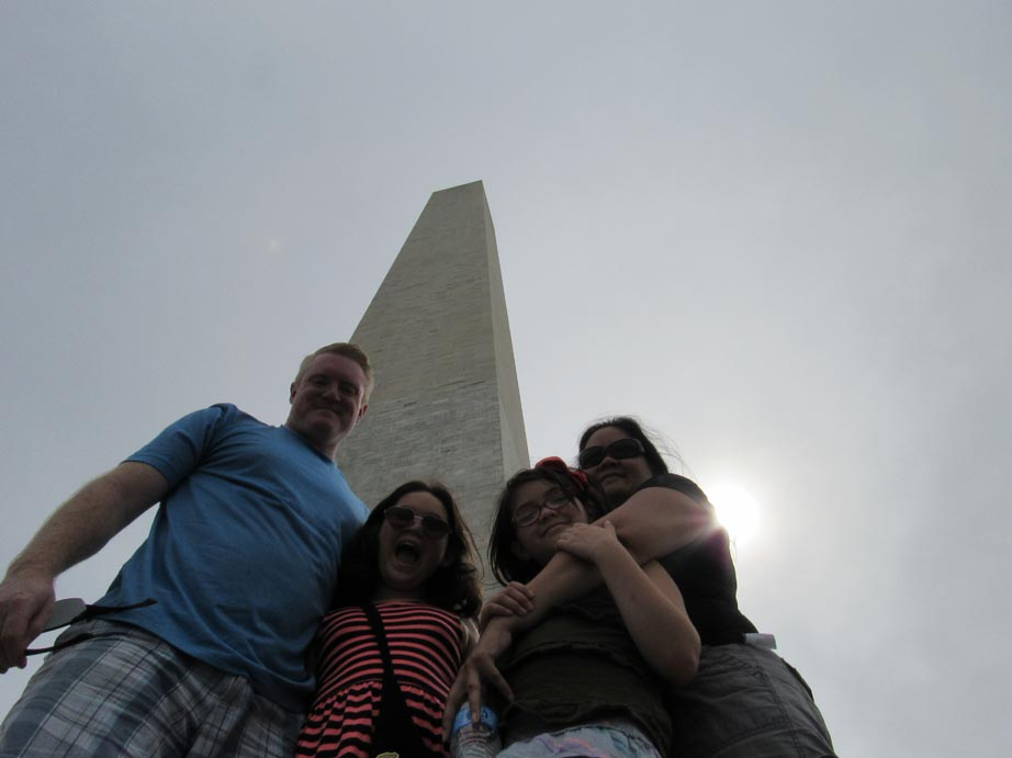 Family at the Washington Monument