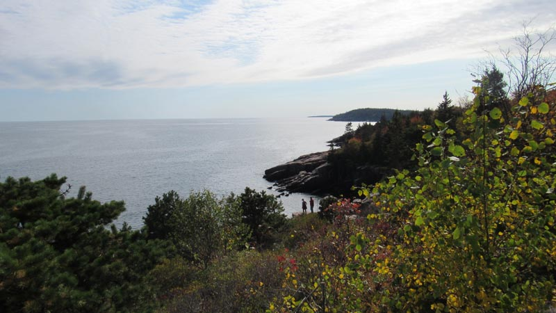 We climbed over those rocks on the Ocean Path trail.