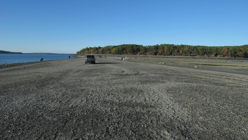 Bar Island Low Tide