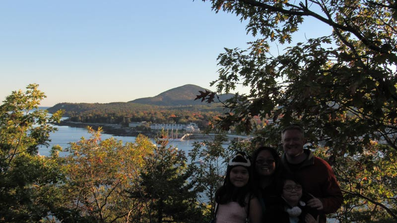 This is from Bar Island looking at Bar Harbor.