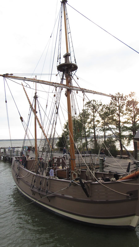 The Discovery was a much smaller ship holding about 20 crew and passengers.