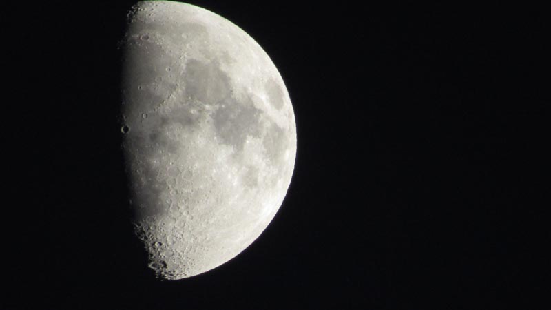 Even the moon was beautiful.