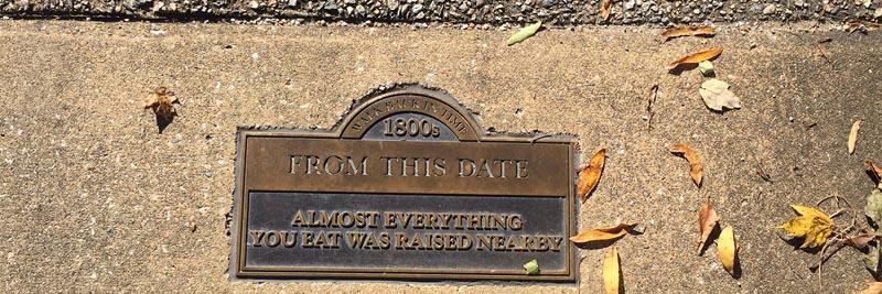Date marking historic local farming.