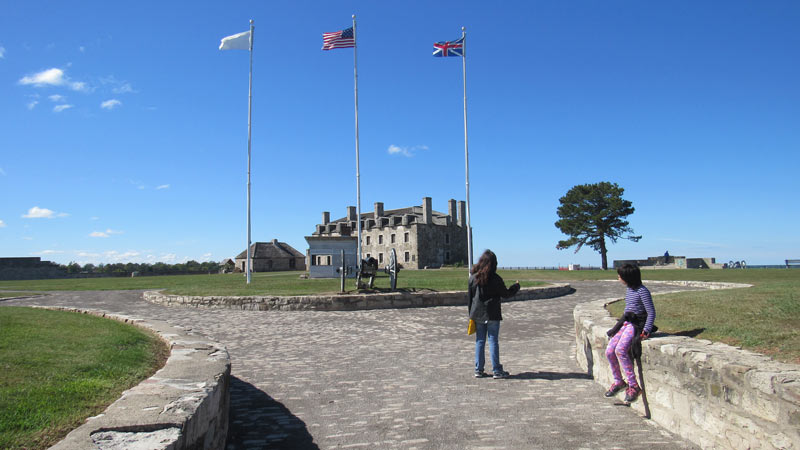 Kids At Fort Niagara