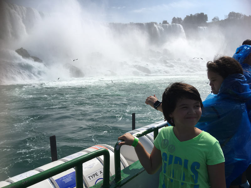 Taking a ride on the Maid of the Mist