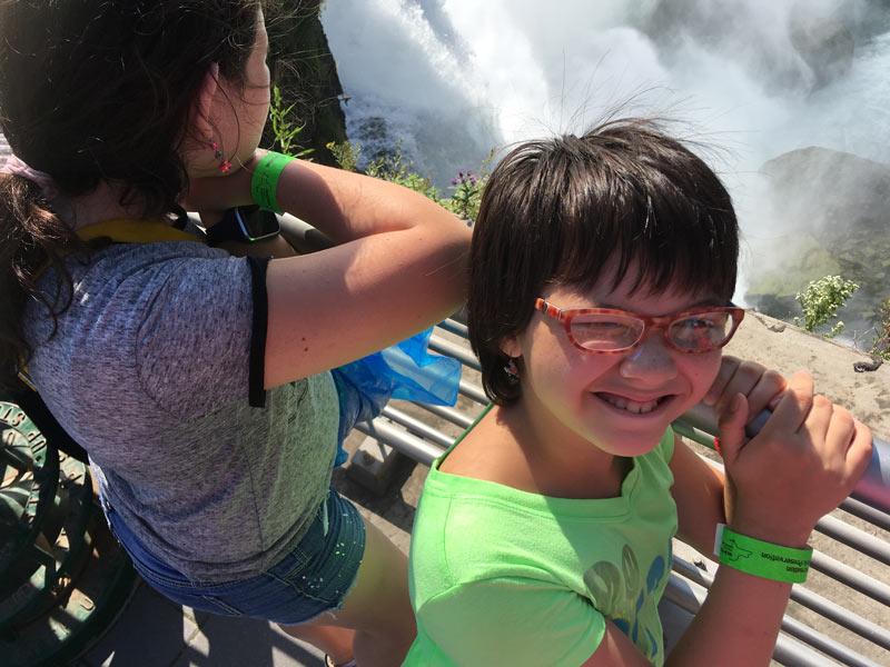 Kids Looking At Falls