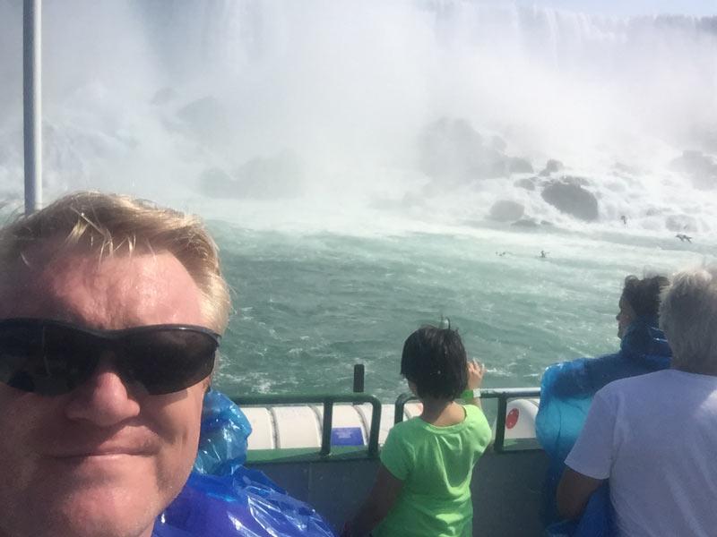 getting wet at Niagara falls