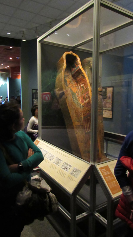 Nina is a huge fan of ancient history and she wanted to see the the Egyptian relics.