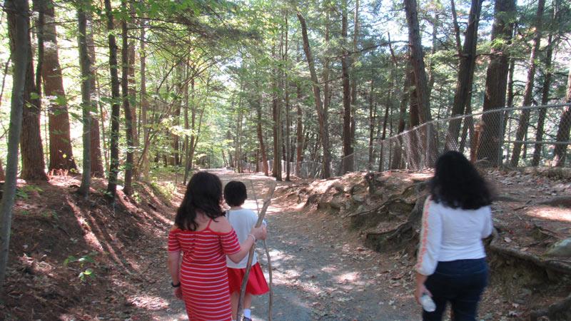 Climbing Quechee Gorge Trail
