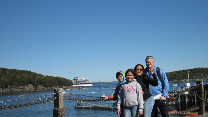 Family at Bar Harbor