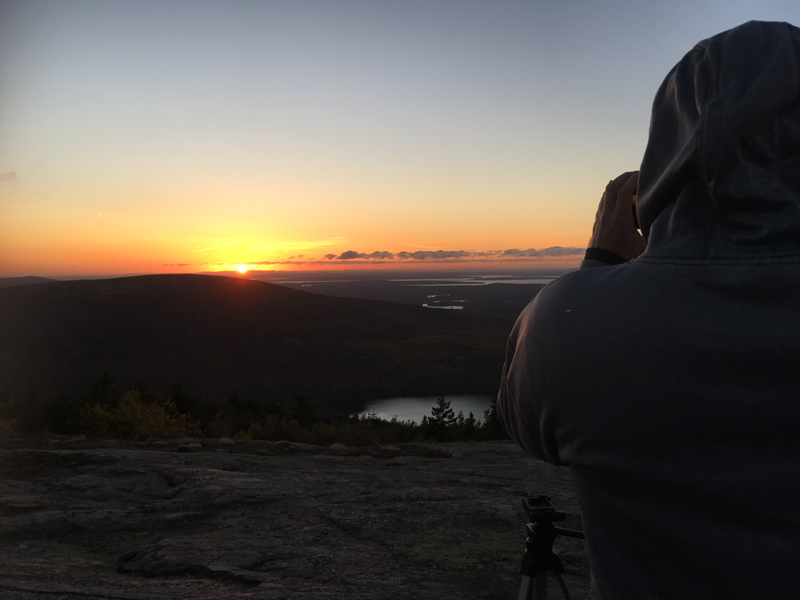We caught a sunset on Cadillac Mountain
