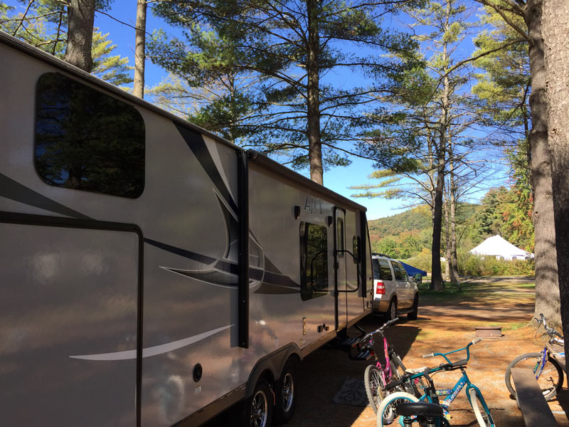Lake George Campground View