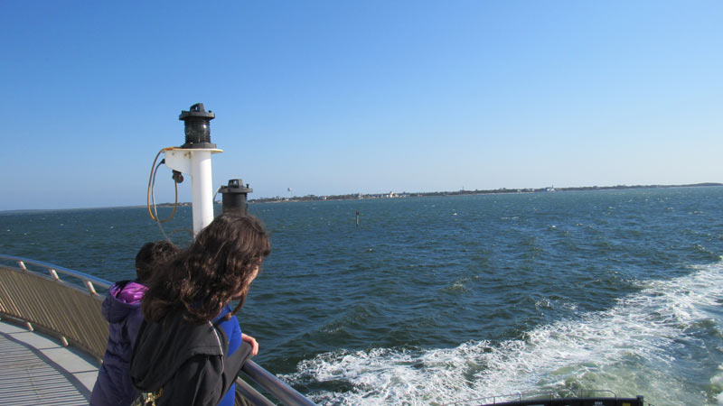 We wanted to take a boat ride in Maine and Boston. Finally we got one in North Carolina and we took our car with us.