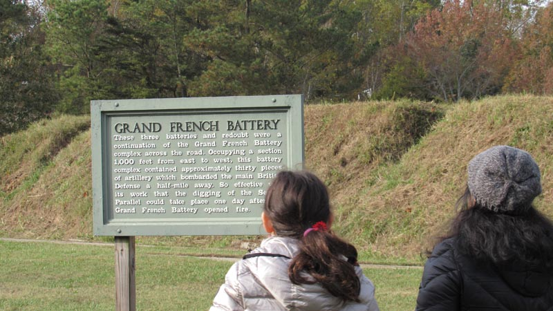Reading about the Grand French Battery