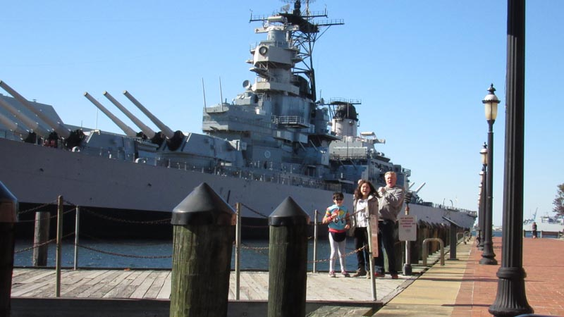 The USS Wisconsin