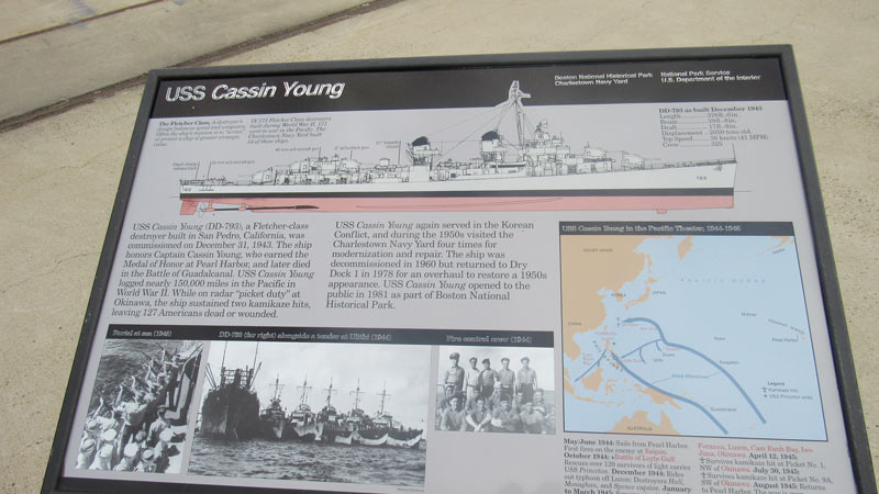 The Cassin Young spent a lot of time outside of Japan fighting battles with the Japanese navy.