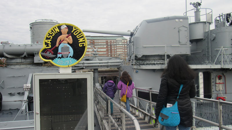 USS Cassin Young tour.
