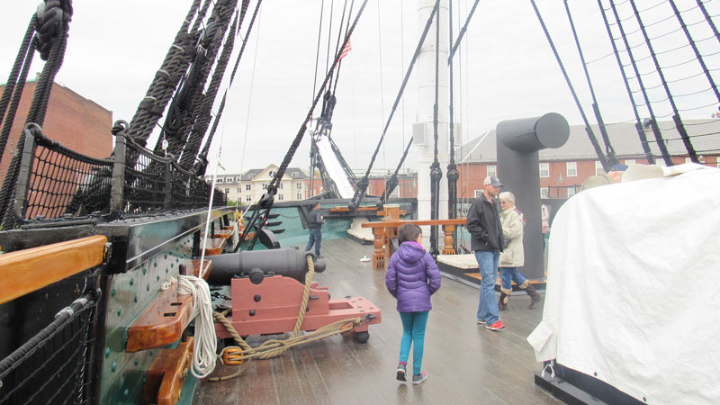 Touring the USS Constitution