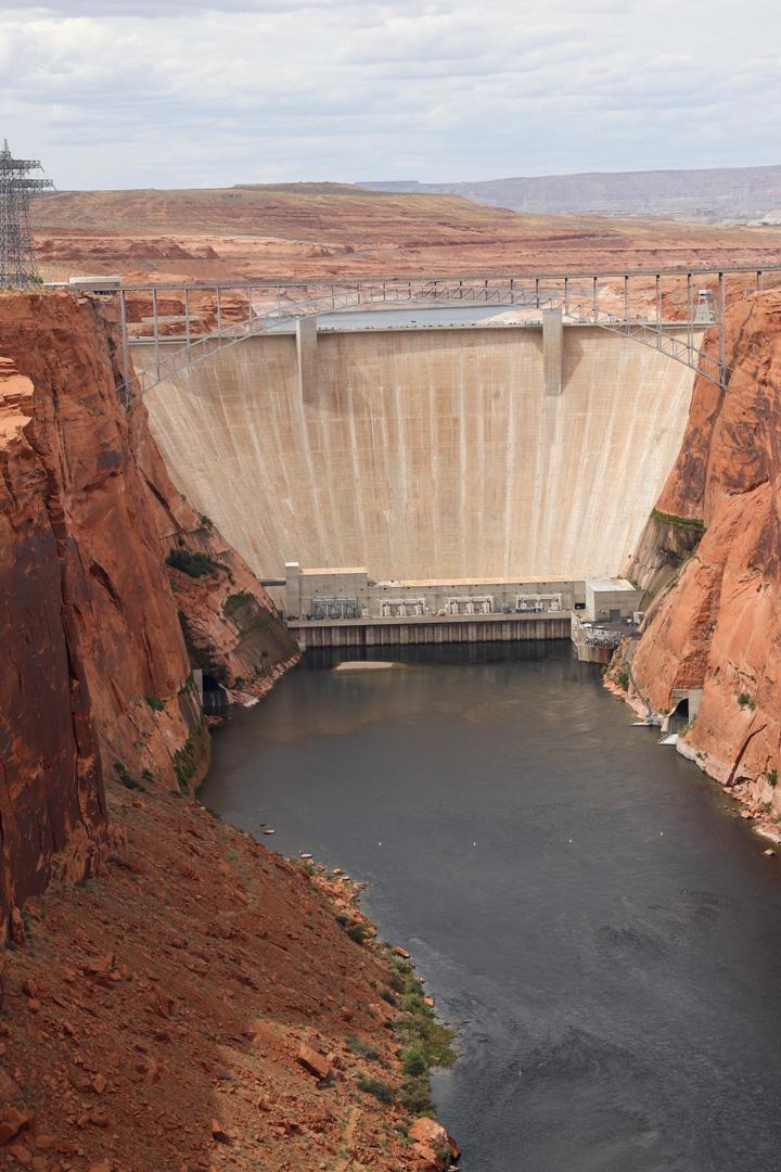 Glen Canyon Dam From the Colorado River