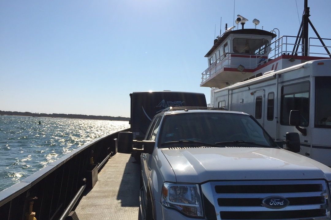 Cape Hatteras Ferry with a travel trailer