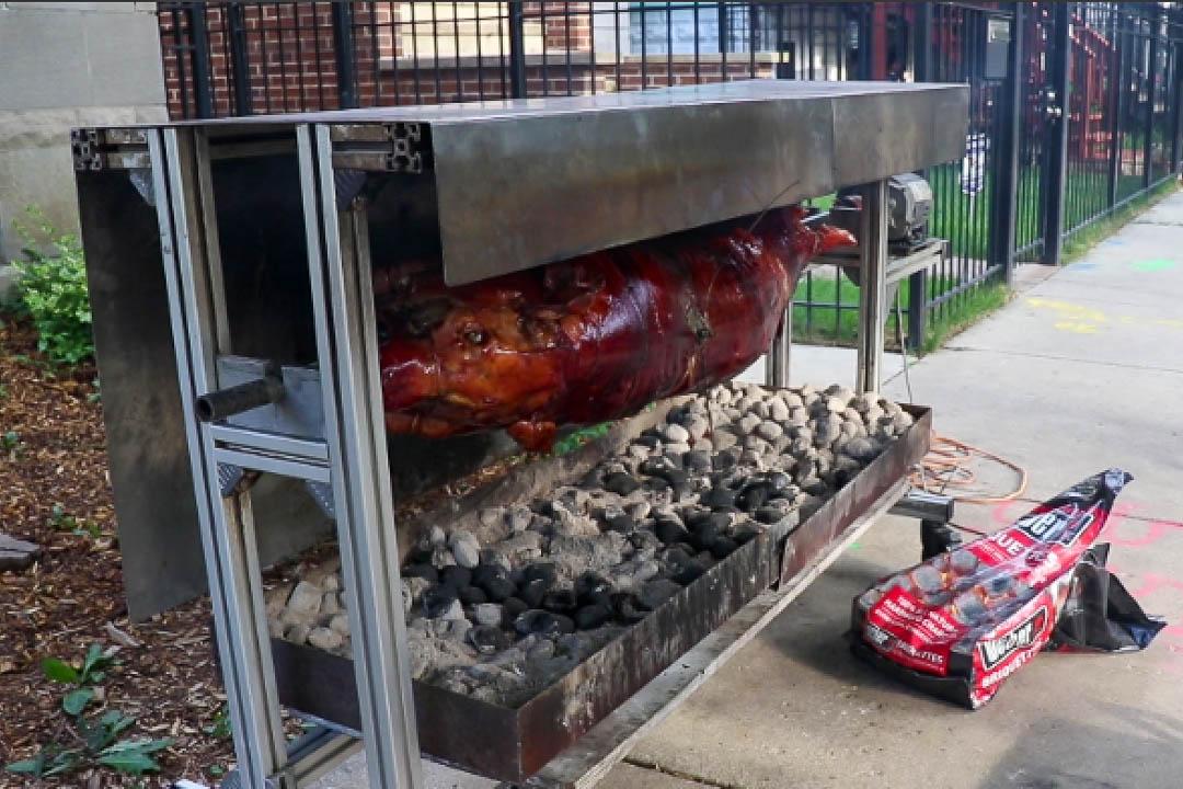 Pig Roast at Block Party