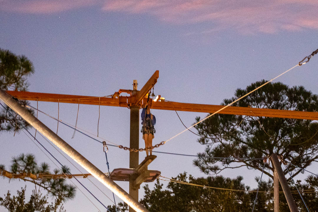 A Wonderful Night on a Rope Course
