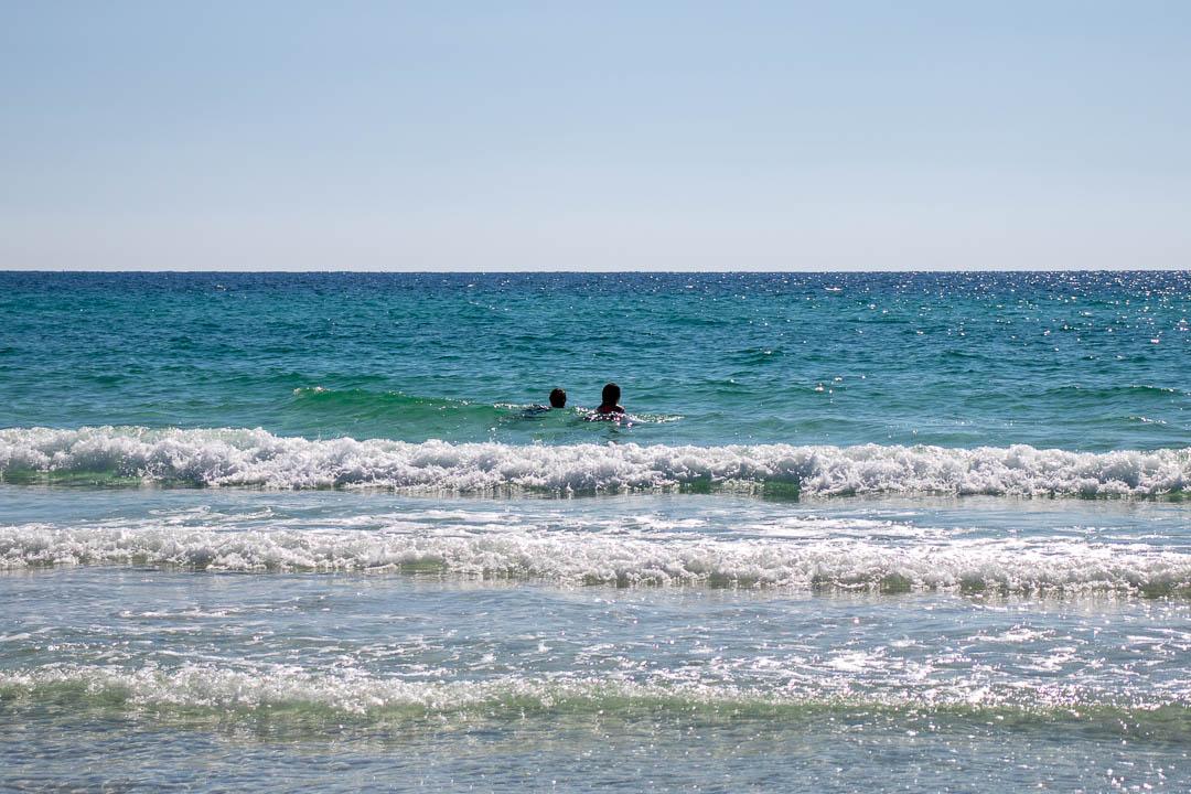Swimming in the Ocean in December