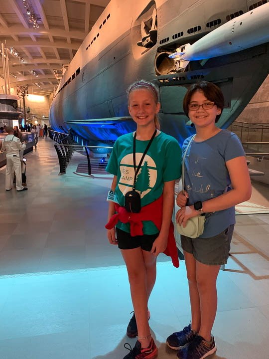 Catching up with friends in Chicago at the Museum of Science and Industry.