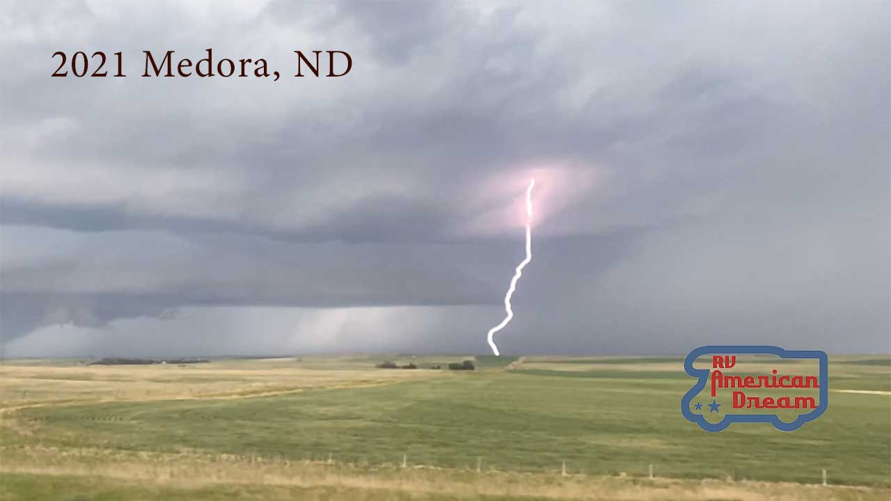 Lightning in Medora, North Dakota